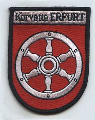 Coat of arms (crest) of the Corvette Erfurt, German Navy