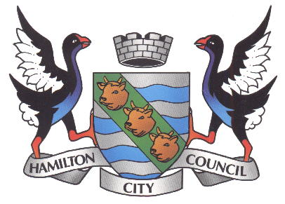 Arms (crest) of Hamilton (New Zealand)
