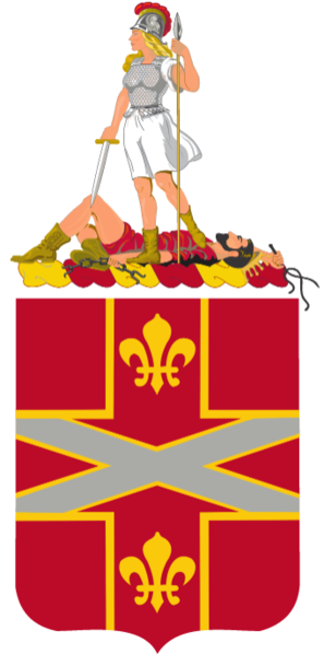 Coat of arms (crest) of the 111th Air Defense Artillery Regiment, Virgina Army National Guard