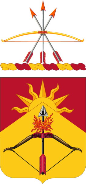Coat of arms (crest) of the 188th Air Defense Artillery Regiment, North Dakota Army National Guard