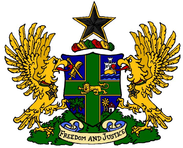 National Arms Of Ghana Heraldry Of The World