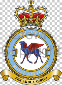 Coat of arms (crest) of the No 45 Squadron, Royal Air Force