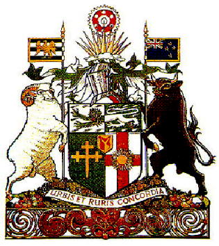 Arms (crest) of Hastings (New Zealand)