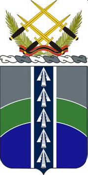 Coat of arms (crest) of the Special Troops Battalion, 2nd Brigade, 1st Infantry Division, US Army
