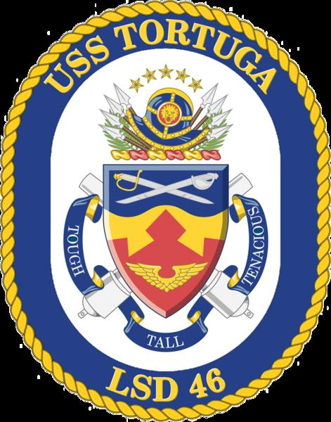 USS TORTUGA LSD-46 PATCH US NAVY VETERAN USN PIN UP DOCK LANDING SHIP GIFT