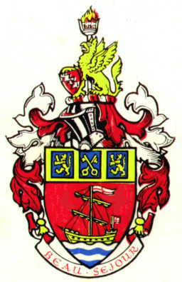 Arms (crest) of Budleigh Salterton