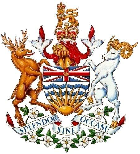 British Columbia Coat Arms Crest