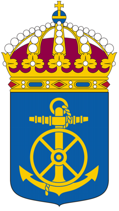 Coat of arms (crest) of the 43rd Support Squadron, Swedish Navy