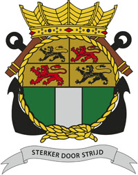 Coat of arms (crest) of the Zr.Ms. Rotterdam, Netherlands Navy