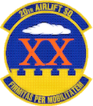 Coat of arms (crest) of the 20th Airlift Squadron, US Air Force