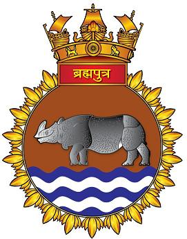 Coat of arms (crest) of the INS Brahmaputra, Indian Navy