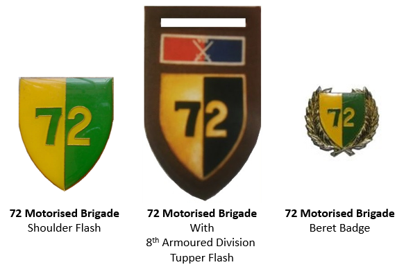 Coat of arms (crest) of the 72 Brigade, South African Army