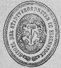 Eibenstock - Wappen von Eibenstock / Coat of arms (crest) of