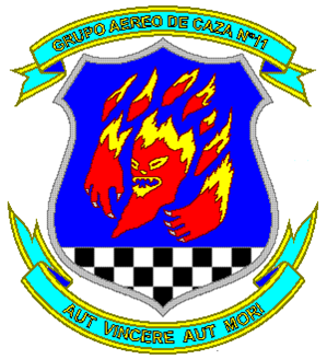 Coat of arms (crest) of the Fighter Air Group No 11, Air Force of Venezuela