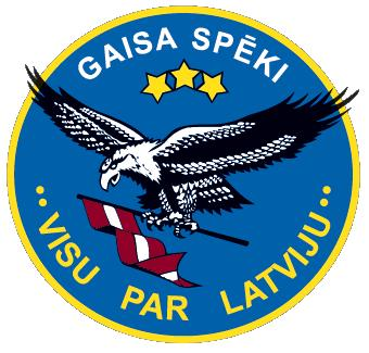 Coat of arms (crest) of the Latvian Air Force
