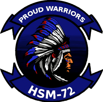 Coat of arms (crest) of the Helicopter Maritime Strike Squadron 72 (HSM-72) Proud Warriors, US Navy