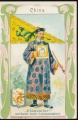 Arms, Flags and Folk Costume trade card Diamantine China
