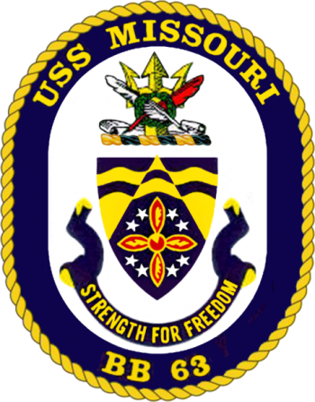 Coat of arms (crest) of the Battleship USS Missouri
