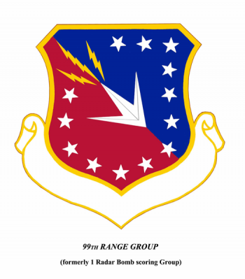 Coat of arms (crest) of the 99th Range Group, US Air Force