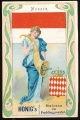 Arms, Flags and Folk Costume trade card Honig (maizena and pudding powder)