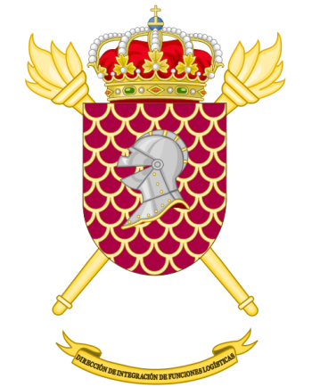 Coat of arms (crest) of the Integration of Logistics Functions Directorate, Spanish Army
