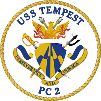 Coat of arms (crest) of the Coastal Patrol Ship USS Tempest (PC-2)