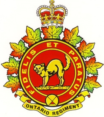 Coat of arms (crest) of the The Ontario Regiment, Candian Army
