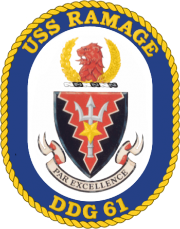 Coat of arms (crest) of the Destroyer USS Ramage