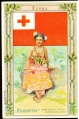 Arms, Flags and Folk Costume trade card Diamantine Tonga