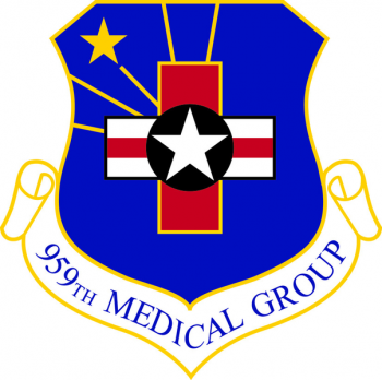 Coat of arms (crest) of the 959th Medical Group, US Air Force