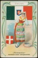Arms, Flags and Folk Costume trade card Diamantine Italien