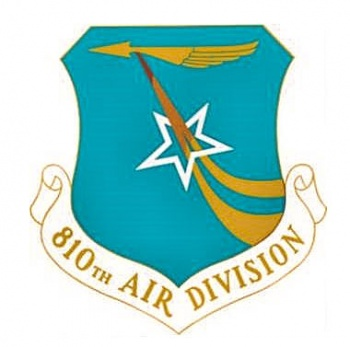Coat of arms (crest) of the 810th Air Division, US Air Force