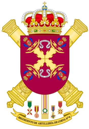 Coat of arms (crest) of the 4th Coastal Artillery Regiment, Spanish Army