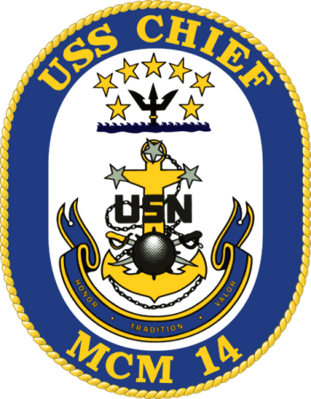Coat of arms (crest) of the Mine Countermeasures Ship USS Chief