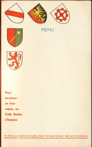 Arms (crest) of Café Sanka : La France Héraldique