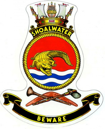 Coat of arms (crest) of the HMAS Shoalwater, Royal Australian Navy
