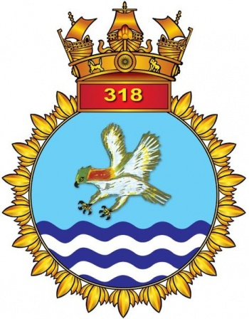 Coat of arms (crest) of the INAS 318 Hawks, Indian Navy