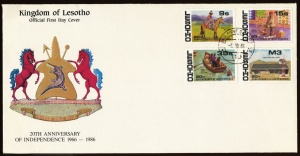 Arms of Lesotho (stamps)
