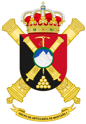 Coat of arms (crest) of the Mountain Artillery Group I, Spanish Army