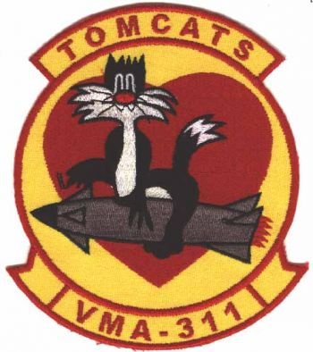 Coat of arms (crest) of the VMA-311 Tomcats, USMC
