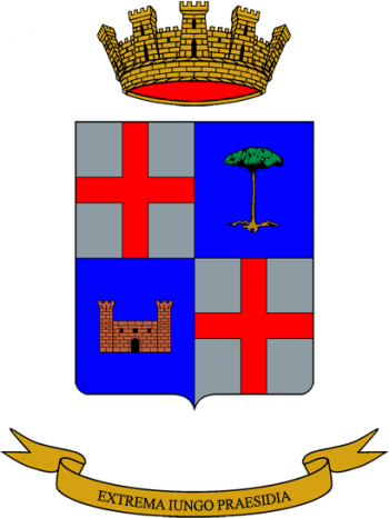 Coat of arms (crest) of the 42nd Signal Battalion Pordoi, Italian Army