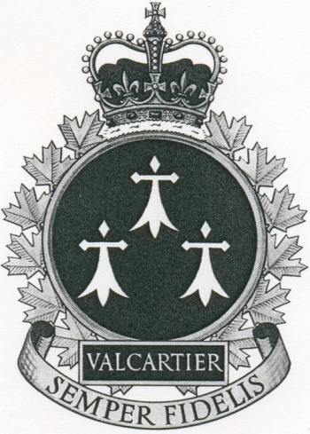 Coat of arms (crest) of the Canadian Forces Base Valcartier, Canada