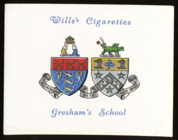Coat of arms (crest) of Gresham's School