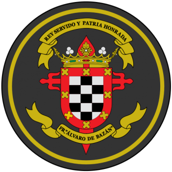 Coat of arms (crest) of the Frigate Álvaro de Bazán, Spanish Navy