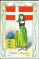 Arms, Flags and Folk Costume trade card Natrogat Dänemark