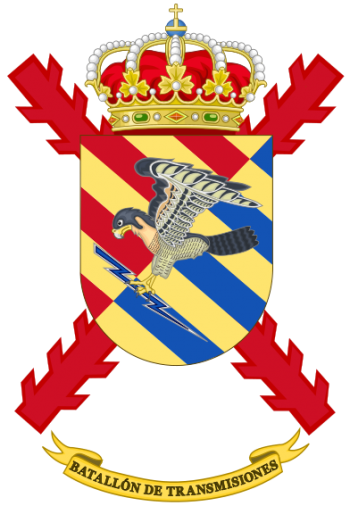 Coat of arms (crest) of the Signals Battalion Military Emergencies Unit, Spain
