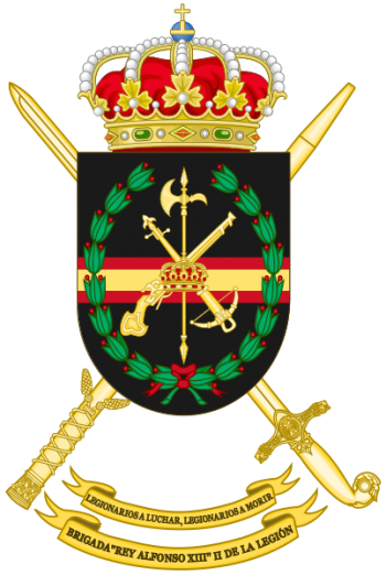 Coat of arms (crest) of the Brigade King Alfonso XIII II of the Legion, Spanish Army