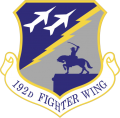 192nd Fighter Wing, Virginia Air National Guard.png