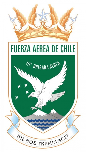 Coat of arms (crest) of the Third Aerial Brigade of the Air Force of Chile