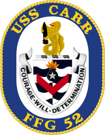 Coat of arms (crest) of the Frigate USS Carr (FFG-52)
